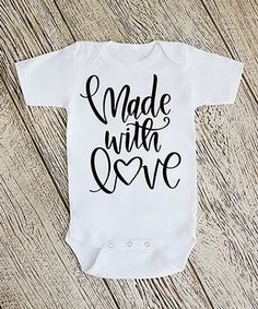 White 'Made with Love' Bodysuit - Newborn & Infant