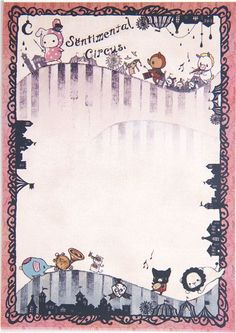 cute Sentimental Circus Memo Pad bunny & musical notes 3