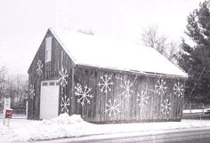 Large White Outdoor Painted Wood Snowflake with Bell on Etsy, $25.00