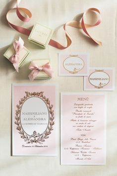 Laduree inspired invitations: http://www.stylemepretty.com/little-black-book-blog/2015/05/21/romantic-laduree-inspired-tuscany-beach-wedding/ | Photography: Facibeni Fotografia - http://www.photographertuscany.com/