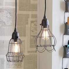 Obsessing over these for weeks ...  Wire Pendant Lights - eclectic - pendant lighting - by RSH
