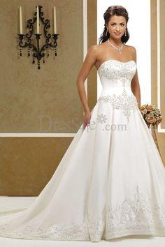 Classic Princess Wedding Dress with Sweetheart Bodice