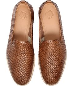 Men's Ipanema (Tan) Leather Woven Slip On Shoe | H Shoes