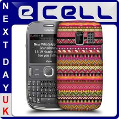 Head Case Red Aztec Pattern Protective Snap on Hard Back Case for Nokia Asha 302 | eBay