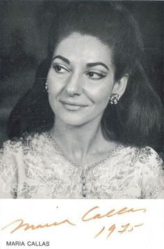 Maria Callas - 1975 | Flickr - Photo Sharing!