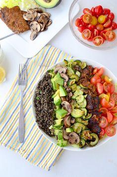 The great big vegan cobb salad! 20g of protein per serving