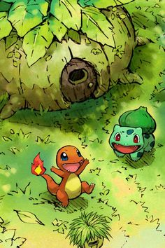 Charmander and Bulbasaur~ God the memories from this game.... (PMD:RRT)