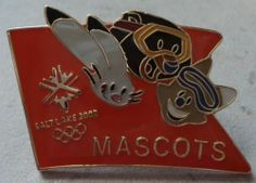 Salt Lake 2002 Olympic Games Pin Mascot Coal Powder Copper Olympics