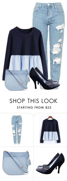 """""""Weekend Simple Outfit"""" by zahratsa on Polyvore featuring Topshop, WithChic, Kate Spade and GUESS"""