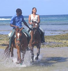 Jamaican Beach Horse Back Riding & Dunn's River Falls Tour at- KnowJamaica