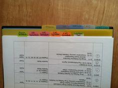 binder organization for nursing school