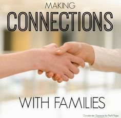 The Importance of Making Connections with Families in Preschool and Kindergarten