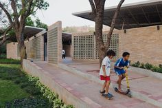 Kéré Architecture is awarded the 2012 Gold Global Holcim Award for its design of a secondary school in Burkina Faso that relies on passive cooling techniques to create a comfortable education environment.