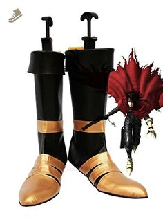 Dirge of Cerberus : Final Fantasy VII FF7 Vincent Valentine Cosplay Shoes Boots Custom Made - Telacos sneakers for women (*Amazon Partner-Link)