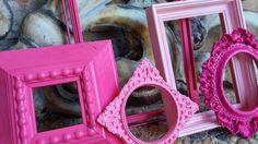 Pink Ornate Baroque Vintage Frame Set Open Back Frame by FeFiFoFun