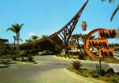 It appears to be inspired by the upswept peaked roof of the Half Moon Inn on Shelter Island in San Diego, California.