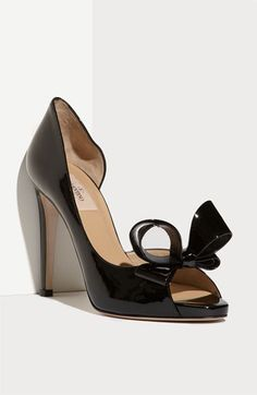Another version of the gorgeous Valentino shoe. Curse my wide feet! Maybe if I ordered a half size up...and gained $700 Valentino Couture Bow d'Orsay Pump | Nordstrom