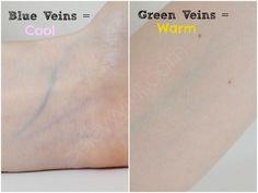 bluish green veins