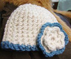 midnight knitter - flower caps - crochet and knit version