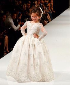 >> Click to Buy << 2017 New Long Full Sleeves Bling Sequins Communion Pageant Dresses Flower Girls Dresses For Party And Wedding Kids Evening Gowns #Affiliate