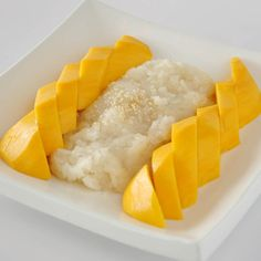 My absolute favorite dish from my travels in  Thailand. Thai Sticky Coconut Rice with mango... such a simple dish of goodness...pure bliss!  Substitute plain sugar with Palm Sugar and honey for true authenticity.