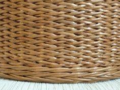 рисунок косичка одинарными трубочками. Плетение из газет