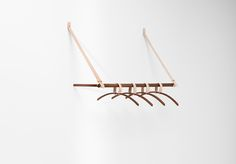 Belt Series - Belt hanging rack  in American walnut designed by Jessica Nebel http://www.hfurniture.co/product_collection/belt-series/