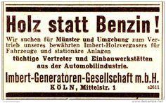 Original-Werbung/ Anzeige 1936 - HOLZ STATT BENZIN / IMBERT HOLZVERGASER…