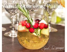 With just a few more days left of 2014, we are finishing up our holiday themed posts with a recipe for a delicious white sparkling punch. Served at our White Winter Wonderland Baby Shower, this non...