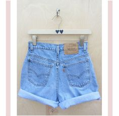 High waisted Levis shorts- rare orange tab- roll up size 7