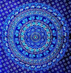 Mandala Tapestry Tapestries Indian Tapestry by JaipurHandloom