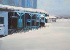 """Saatchi Art Artist Marta Zamarska; Painting, """"A Railway Impression XXI"""" #art"""