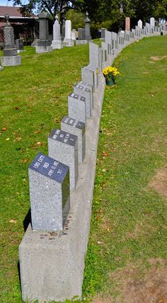 Titanic Graveyard, Halifax, where victims of the Titanic are buried.