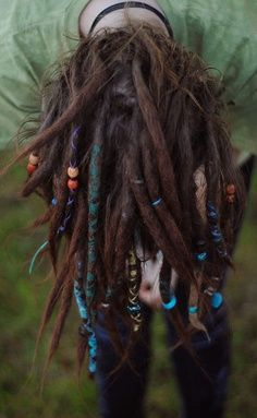 beads and wrapped dreadlocks