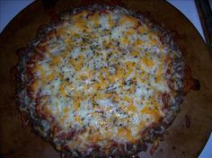 No Dough Meat Crust Pizza! Soo Awesome!!! Made it tonight and didnt miss the crust at all!