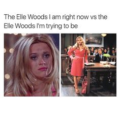 If you can be anyone be Elle Woods via @mytherapistsays Read our blog post on the life lessons we've learned from Elle Woods - link in bio . . . . #mondays #meme #ellewoods #legallyblonde #thedailystruggle #mondayfeels #mondaymotivation