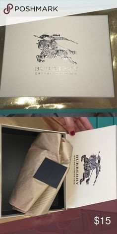 Burberry wallet box Burberry box, Burberry tissue and Burberry sticker! I bought a wallet and obtained this box. Burberry Accessories