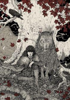 Bran and Summer                                                                                                                                                      Mais