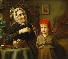 Harriet Backer (1845 – 1932, Norwegian) Little Red Riding Hood