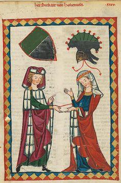 Manesse Codex - (1300 - 1340) Herr Birkart von Hohenfels