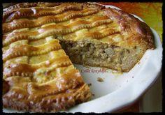 Potato pie with meat - Húsos burgonyás pite - Csilla konyhája, mert enni jó! Savoury Cake, Quiche, Meatloaf, Banana Bread, Pizza, Tart, Baking, Potato Pie, Food
