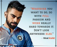 """Virat Kohli - """"Run Machine"""" in world cricket has been a motivation for many people Let's look some of Virat kohli quotes on Cricket, Dream, Life and more. Hard Work Images, Hard Work Quotes, India Cricket Team, World Cricket, Sachin Tendulkar Quotes, Motivational Quotes For Success, Inspirational Quotes, Virat Kohli Quotes, Success Images"""