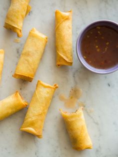 A recipe for Vietnamese-Style Pork and Shrimp Egg Rolls. Perfect snack or appetizer! Shrimp Egg Rolls, Shrimp Spring Rolls, Appetizer Dips, Appetizer Recipes, Vietnamese Pork, Vietnamese Egg Rolls, Vietnamese Recipes, Chinese Recipes, Kos