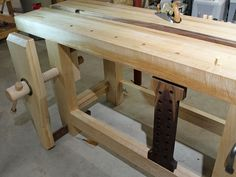 We have another great workbench idea for a Split-Top Roubo workbench from Kim B. from Indian River, Michigan.  Kim just started getting into woodworking this past year and has built a tremendous wo…