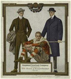 The House of Kuppenheimer by J.C Leyendecker, c. 1912 via The New York Public Library.