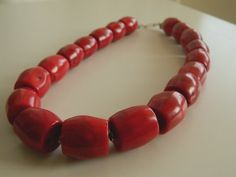 Beautiful Old Yemeni Antique Huge Red Coral by SuzieWheatVintage, £320.00