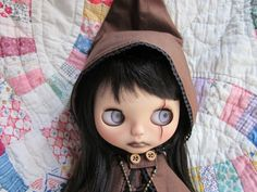 Horror Custom Blythe (USED)  Buy her here:   #blythe #blythedolls #kawaii #cute #rinkya #japan #collectibles #neoblythe #customblythe