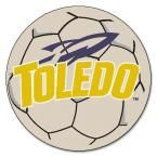 Ncaa University of Toledo Cream (Ivory) 2 ft. 3 in. x 2 ft. 3 in. Round Accent Rug
