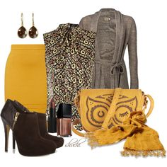 """Must Have Mustard"" by shuchiu on Polyvore"
