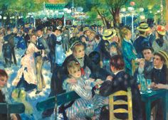 Auguste Renoir - Dance at Le Moulin de la Galette Hand & Bath Towel by Elegant Chaos Gallery - Hand Towel Pierre Auguste Renoir, Edouard Manet, Claude Monet, August Renoir, Carl Spitzweg, Art Du Monde, Renoir Paintings, Edward Hopper, Post Impressionism